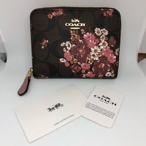 0b70b4c763b3 Coach Bags - Coach Small Zip Around Wallet Medley Bouquet NWT